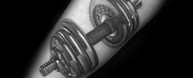 40 Barbell Tattoo Designs For Men – Bodybuilding Ink Ideas