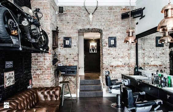 Barber Shop Brick Wall Design Ideas