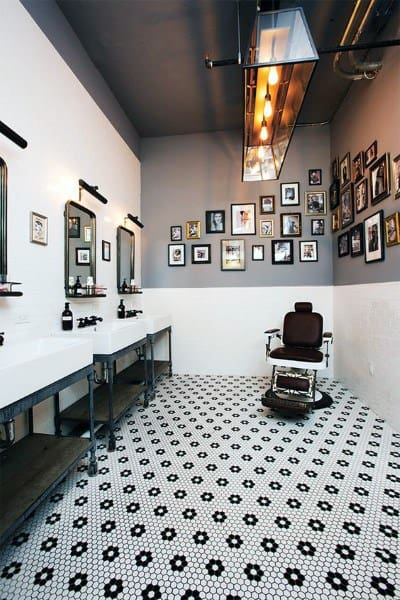Barber Shop Designs With Tile Flooring