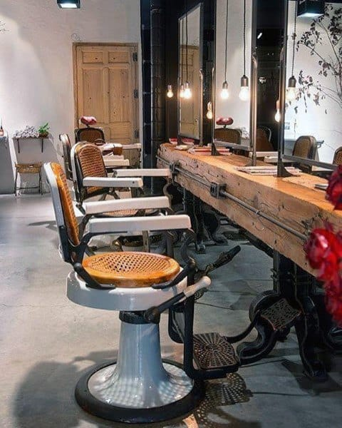 Barber Shop Wood Table Designs