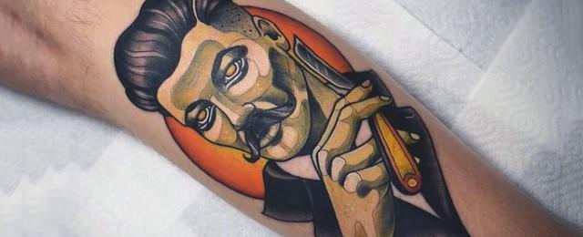 Barber Tattoos For Men
