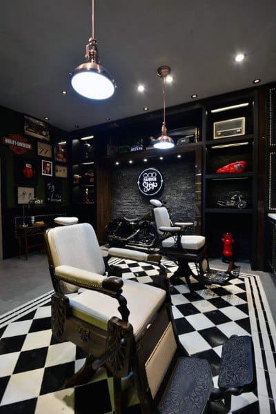 Top 80 Best Barber Shop Design Ideas Manly Interior Decor