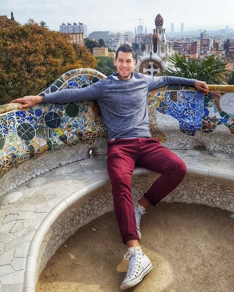 Barcelona Red Pants Mens Wear