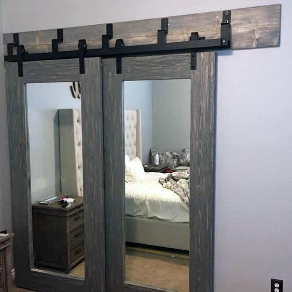 Barn Mirror Closet Door Ideas