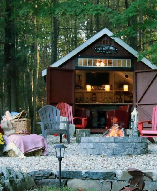 Small Shed Ideas Hangout Interior