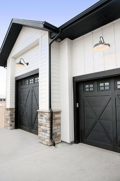 50 Outdoor Garage Lighting Ideas Exterior Illumination Designs