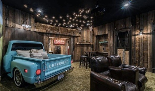 Barn Themed Basement Man Cave Guys Ideas