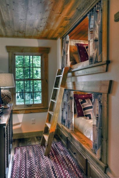 Barn Wood Ladder Bunk Bed Ideas