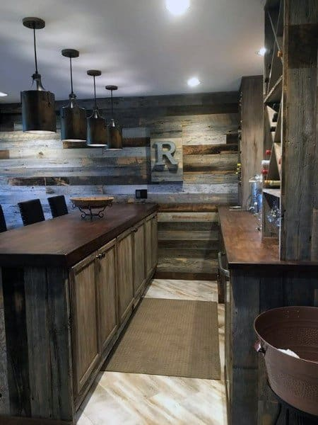 Top 40 Best Home Bar Designs And Ideas For Men: Vintage Home Interior Designs