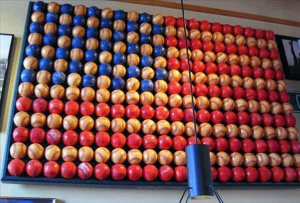 Baseball American Flag Diy Man Cave Wall Art Ideas