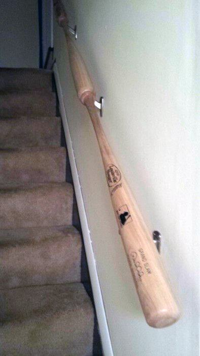 Baseball Bat Rails For Staircase Guys Man Cave Ideas