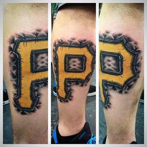 Baseball Leg Calf Guys Pittsburgh Pirates Tattoo Designs
