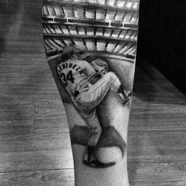 Baseball Player Forearm Los Angeles Dodgers Guys Tattoo Designs