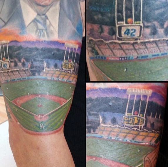 Baseball Player Tattoos For Males