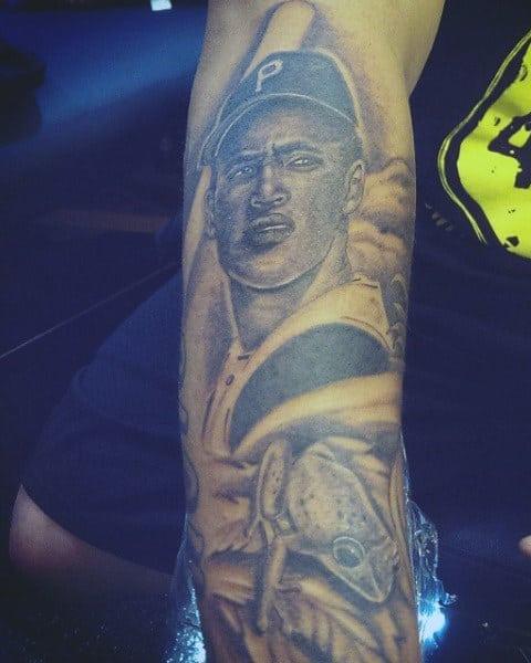Baseball Stitches Tattoo For Guys