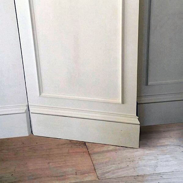 Baseboard And Chair Rail Moldings Hidden Door Ideas