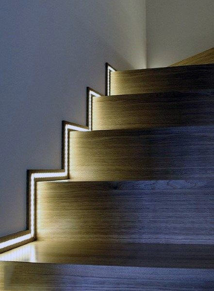 Baseboard Lighting Led Modern Staircase Ideas