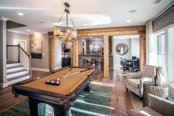 Basement Area Billiards Room Ideas