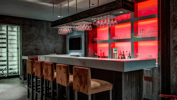 Basement Bar Countertop Design Ideas