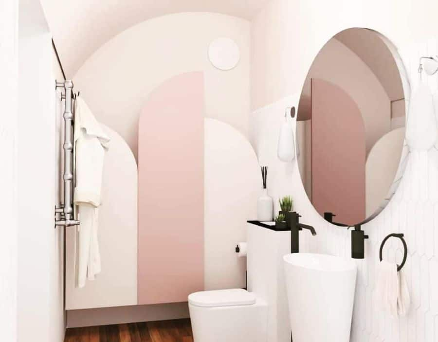 Basement Bathroom With Colored Walls Lidedesign