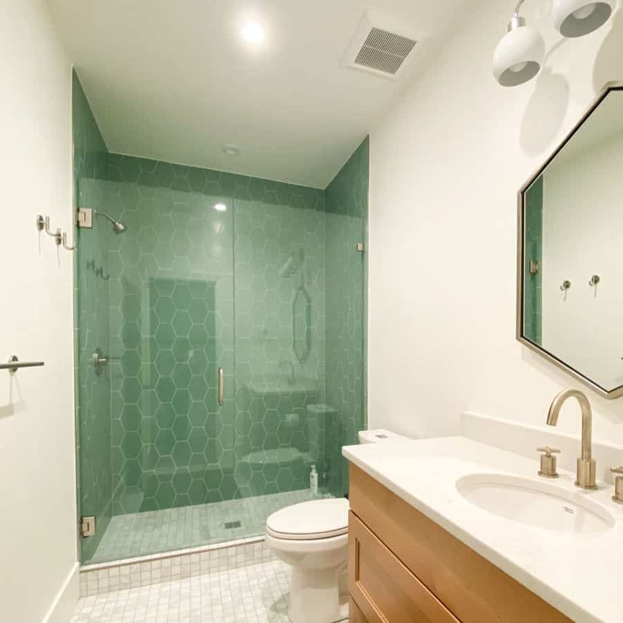 Basement Bathroom With Colored Walls Wheremymindwonders.design