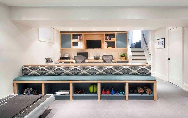 Basement Built In Desk Ideas