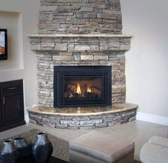 Bat Corner Fireplace Design