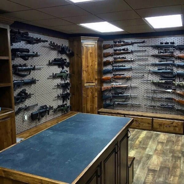 Basement Gun Room Designs