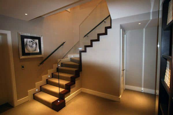 Basement Stair Ceiling Lighting: Top 60 Best Staircase Lighting Ideas