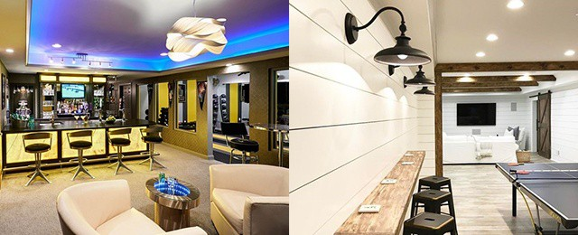 Top 60 Best Basement Lighting Ideas – Illuminated Interior Designs