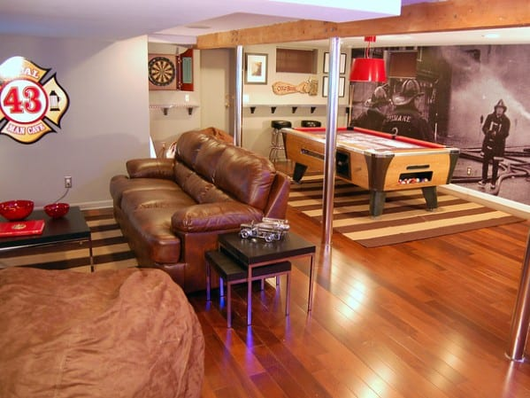 Basement Man Cave Inspiration and Ideas