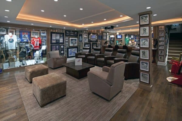 Basement Man Cave With Luxury Design