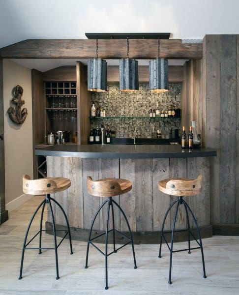 40 Cool Rustic Bar Design: Vintage Home Interior Designs