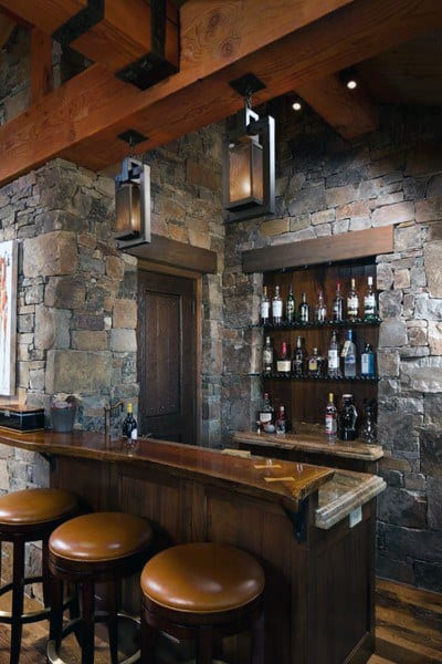 Basement Small Rustic Bar Ideas