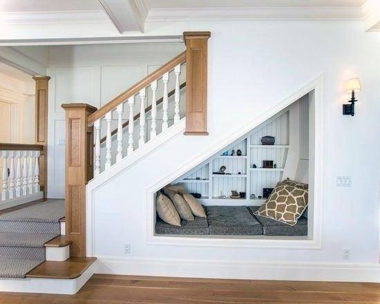 Basement Stairs Idea Inspiration With Nook Area