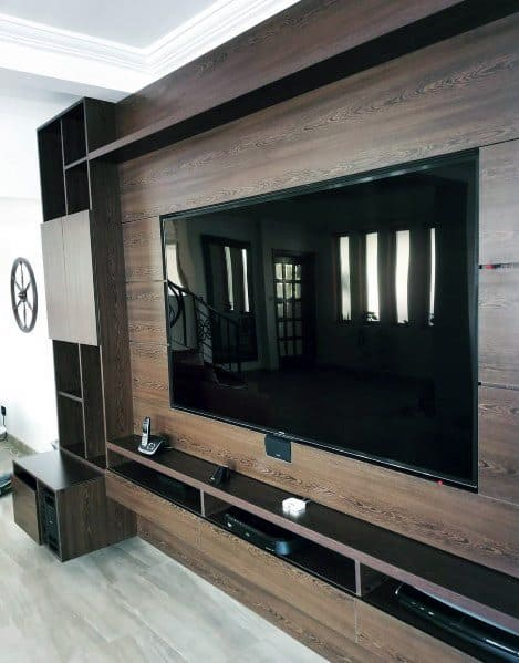 Basement Wood Luxury Tv Wall Ideas