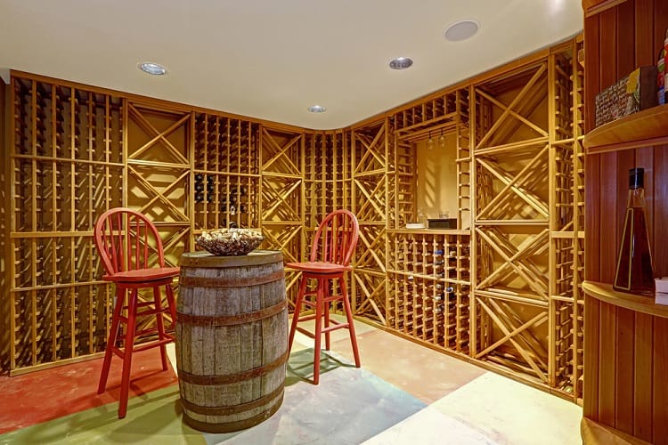 Basement Wooden Wine Cellar Basement Storage