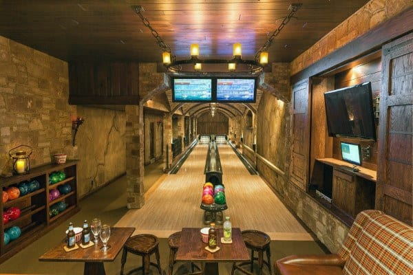 Basements With Rustic Design