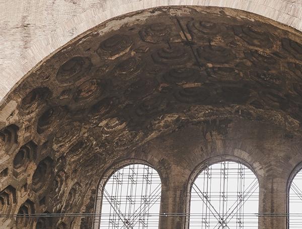 Basillica Maxentius Roman Forum Ceiling Detail