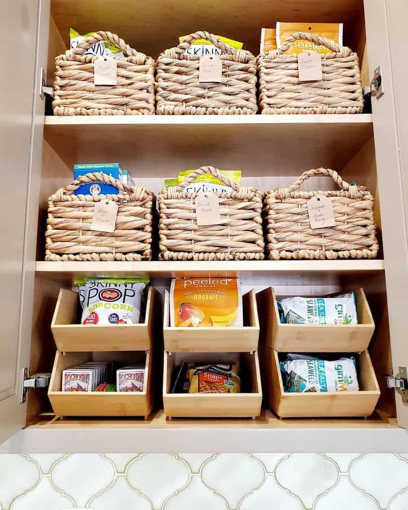 basket small pantry ideas organizedbyhand