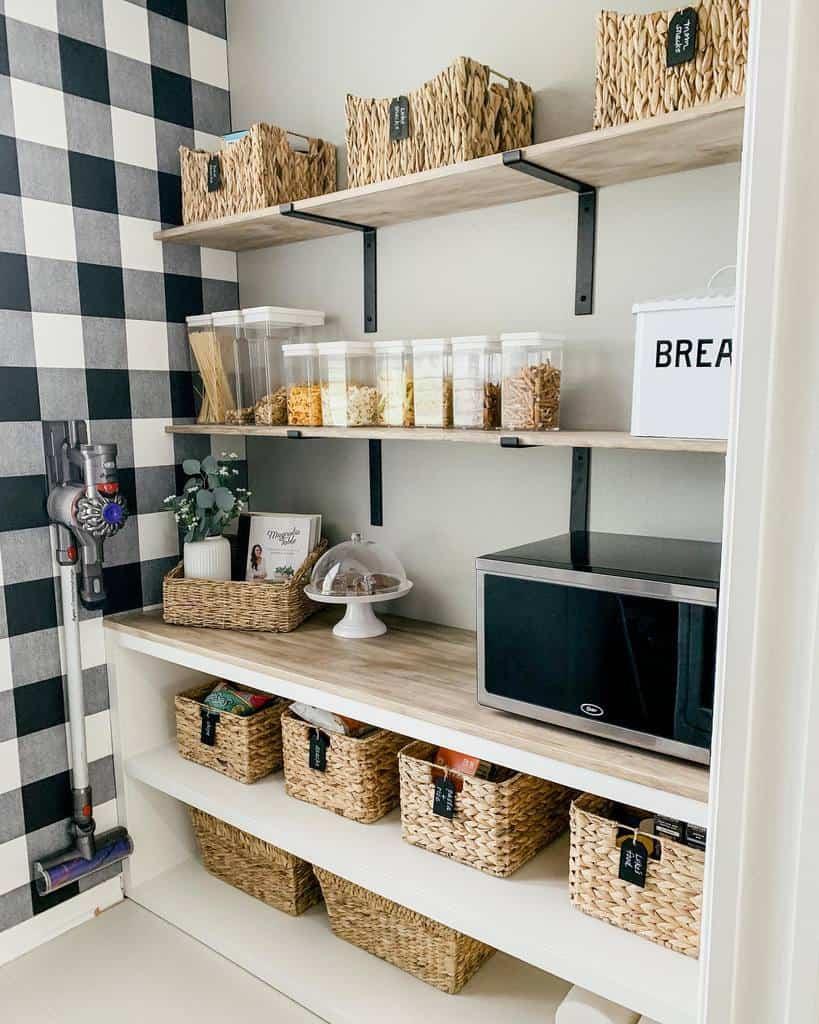 basket small pantry ideas simplesweetalmostcomplete