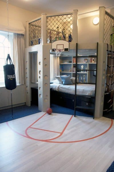 Basketball Court Themed Bunk Bed Ideas