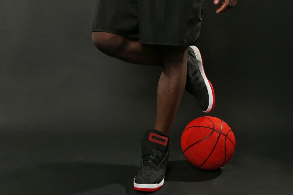 basketball player black shoes
