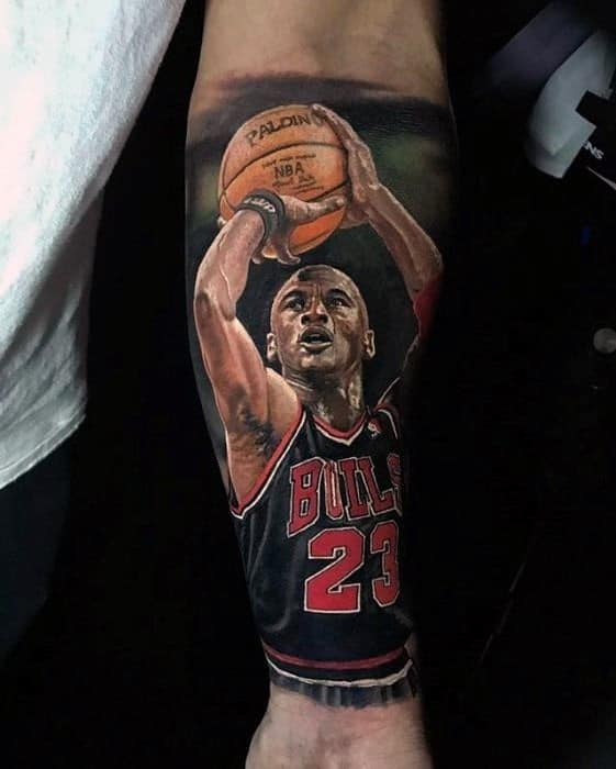 Basketball Sports Tattoo Designs For Guys On Forearm
