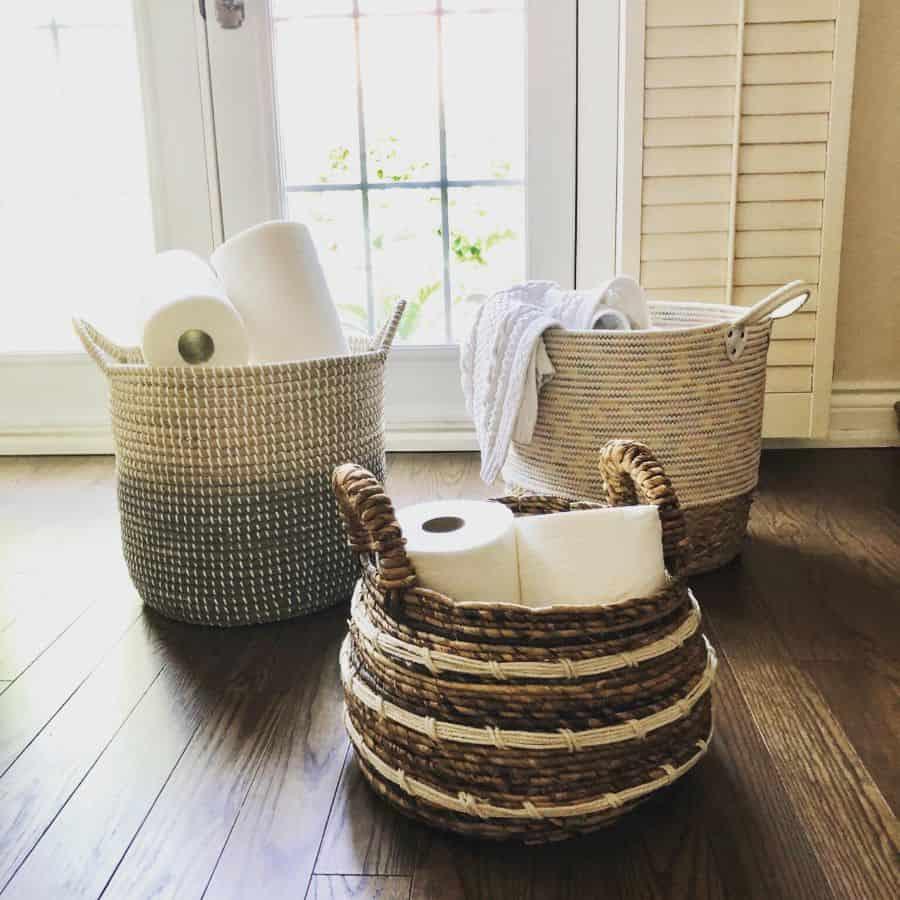 Baskets And Bins Bathroom Organization Ideas Minimalmatterspo