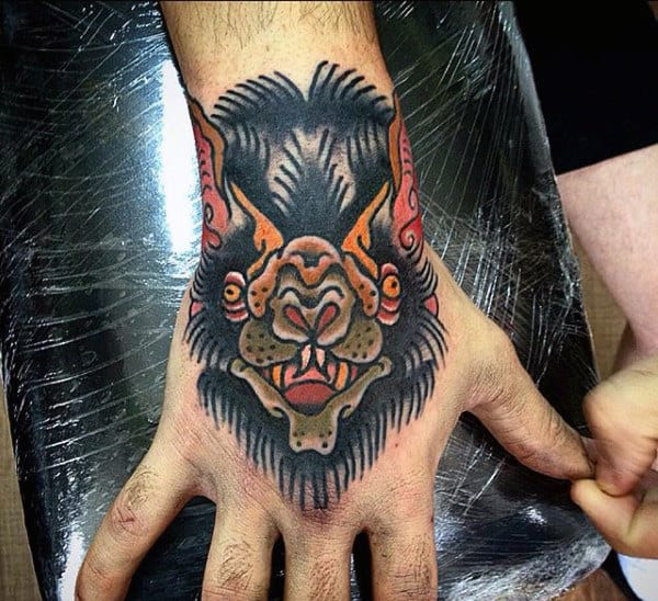 d4269b507fdea 50 Bat Tattoo Designs For Men - Manly Nocturnal Design Ideas