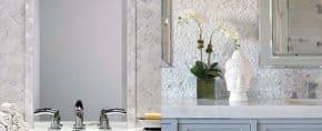 Top 70 Best Bathroom Backsplash Ideas – Sink Wall Designs