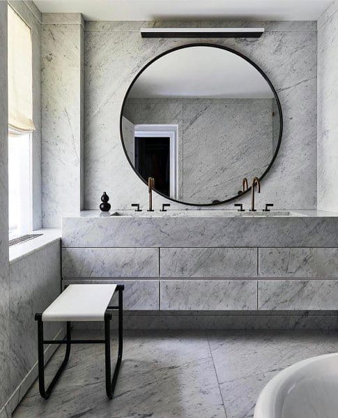 Bathroom Backsplash Interior Ideas Solid Marble Wall