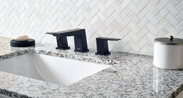 Bathroom Backsplash Tile Ideas Herringbone White