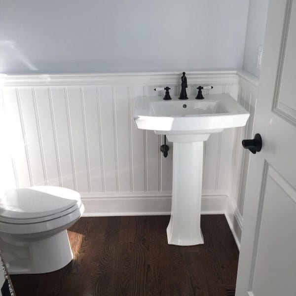 60 wainscoting ideas unique millwork wall covering and - Bathroom remodel ideas with wainscoting ...